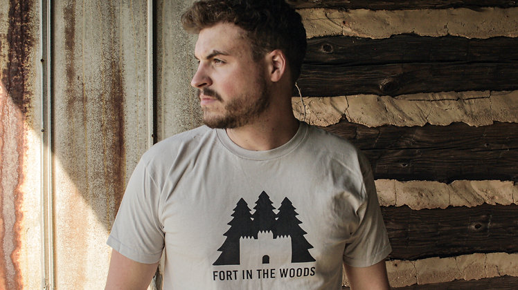 Fort In The Woods T-Shirt | White / Black