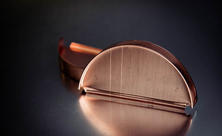 Copper Half Round End Caps