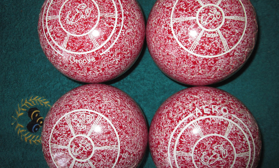 Red/White Speckle - World bowls Stamp 2023