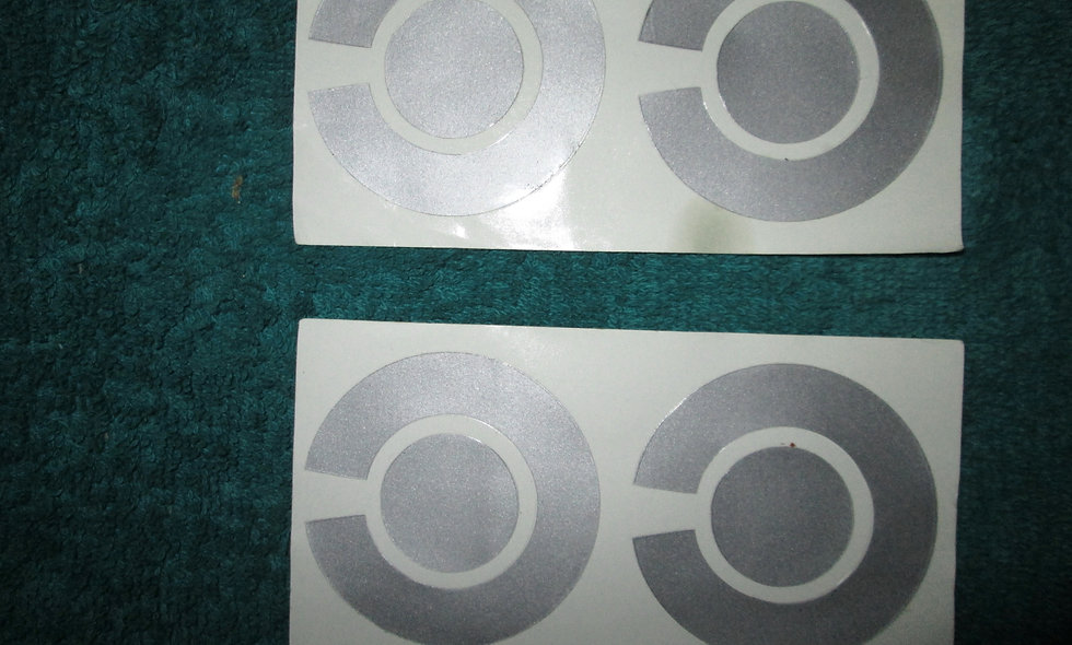 Set of 4 X Silver Bowls Stickers