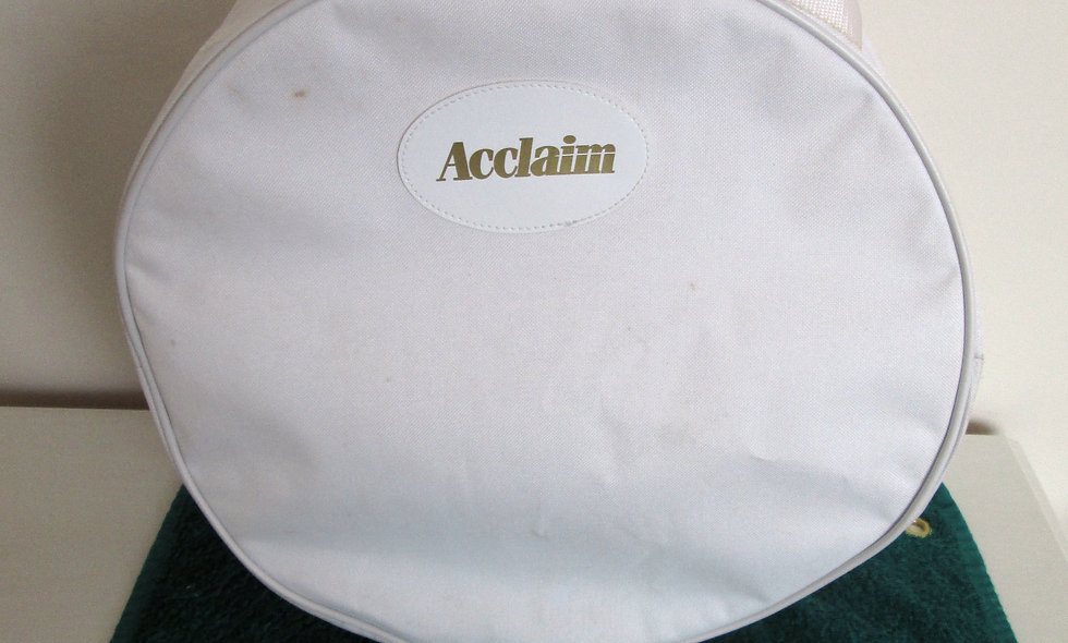 """Acclaim White Hat/Accessories Bag - Size 15"""" X 6"""""""