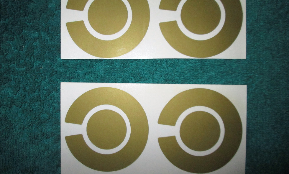 Set of 4 X Gold Bowls Stickers