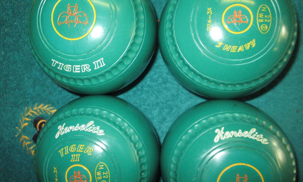 Henselite Tiger II bowls - Size 3.0