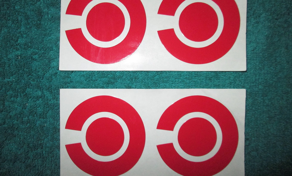 Set of 4 X Red Bowls Stickers