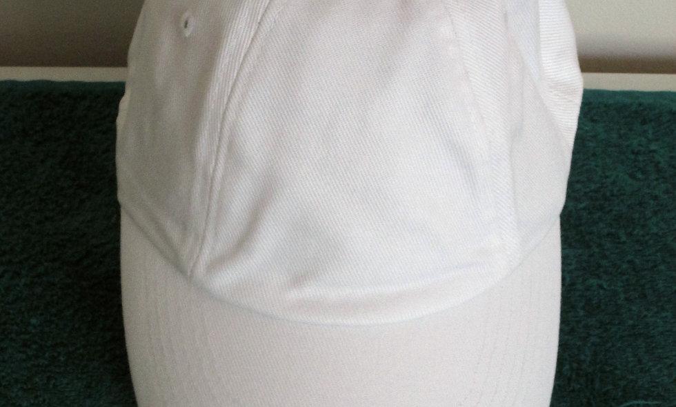 White Baseball Cap - One Size