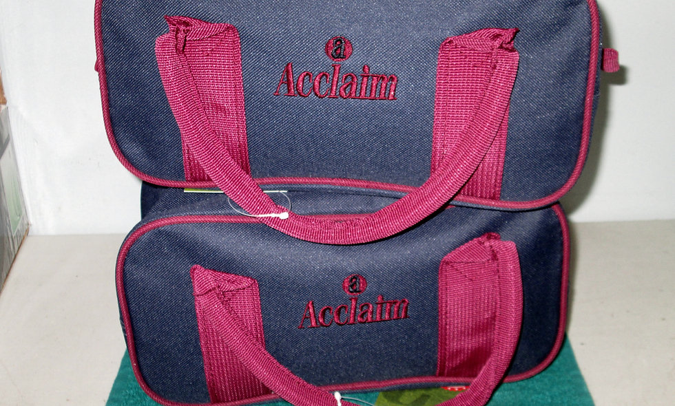 Pair of Acclaim Two Bowl Bags - Blue/Maroon