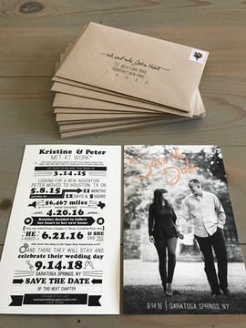 Save The Dates & Envelopes