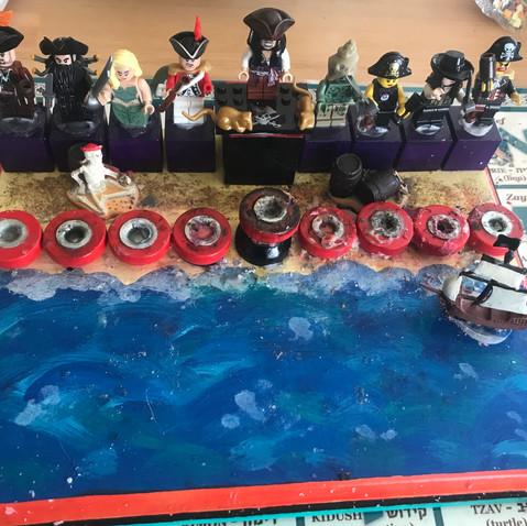 "The ""Pirates of the Caribbean"" Menorah"
