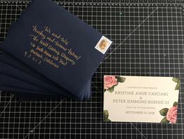 Invitation Illustration/Design & Handwritten Envelope
