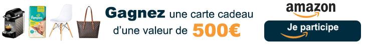 Conso-Enquête Carte cadeau Amazon 500€