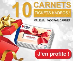 10 carnets Tickets Kadeos