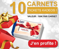 10 carnets Tickets Kadeos