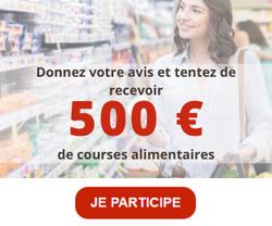500€ de courses alimentaires