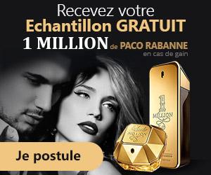 Echantillon de parfum 1 MILLION de Paco Rabanne