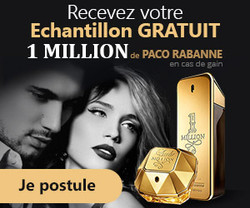 Echantillon de parfum 1 MILLION de Paco Rabanne