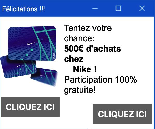 500€ d'achats chez Nike