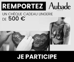 Chèque cadeau lingerie Aubade 500€