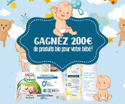Gagnez 200€ de produits bio pour votre bébé | Vip Concours