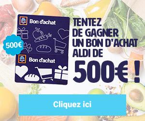 500€ dans votre supermarché