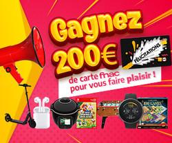 Gagnez Carte cadeau fnac | Vip Concours.