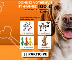 Gagnez 100€ de jouet pour chien