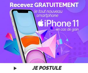 Recevez gratuitement l'iPhone 11