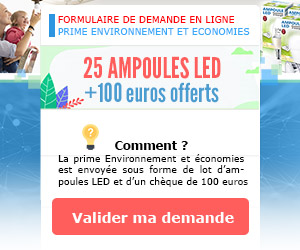 25 AMPOULES LED + 100€ Offerts