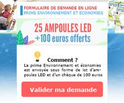 25 AMPOULES LED + 100€ Offerts