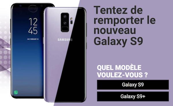 Tentez de remporter le nouveau Galaxy S9