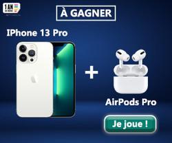iPhone 13 Pro et des Airpods Pro