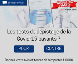 Sondage - tests Covid payants