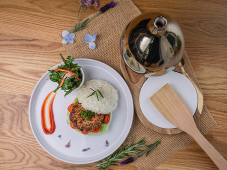 Basil Sticky Rice Burger