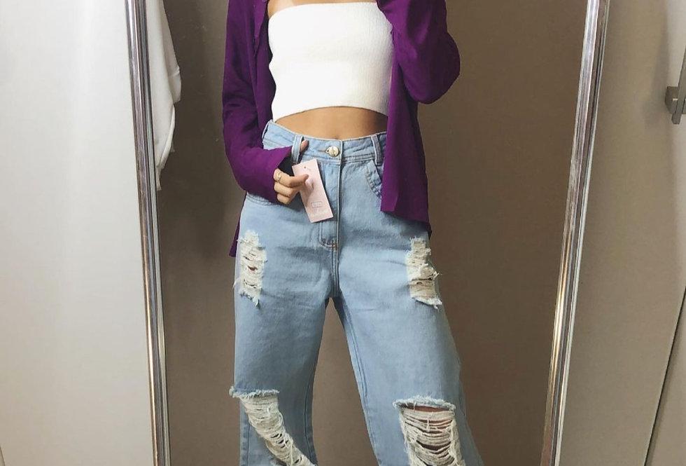 Calça WIDE LEG jeans - Jamaica - Tamanho 36/38