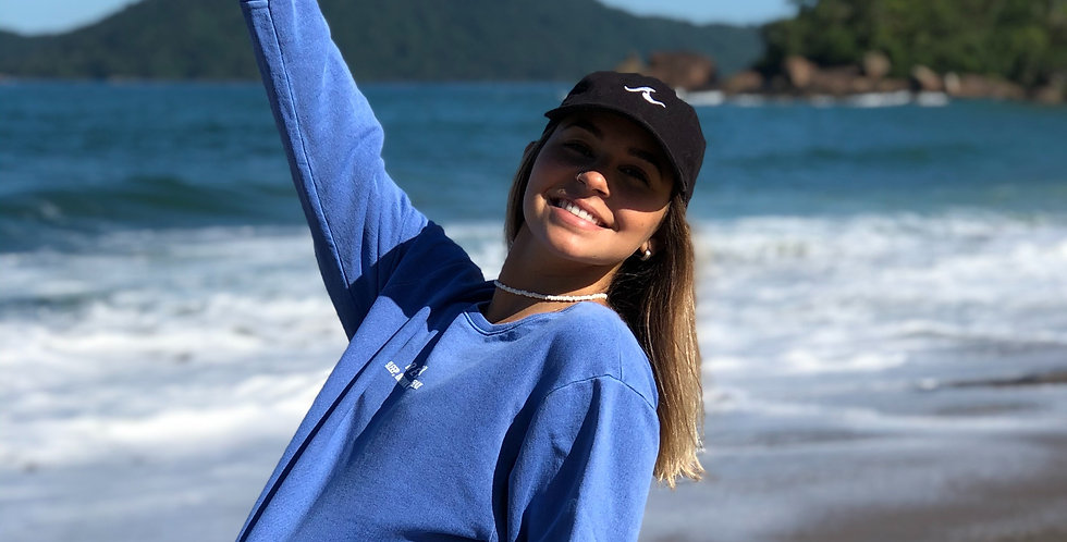 Moletom Azul Ibiza - Tamanho - Médio