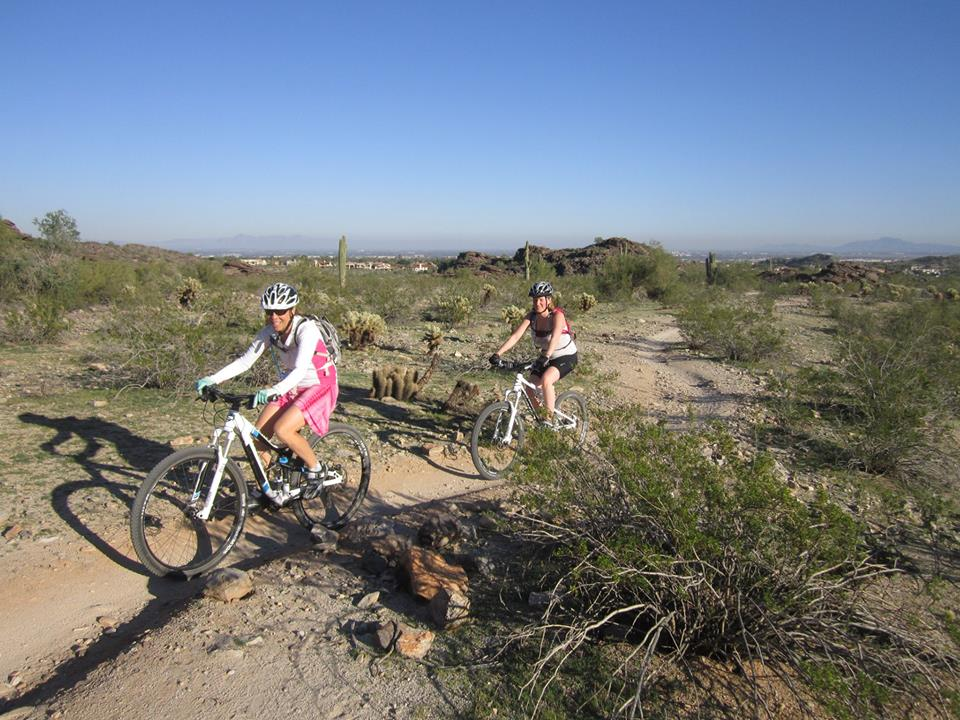 Jen guiding on the Desert Classic