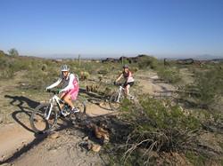 Jen guiding on the Desert Classic
