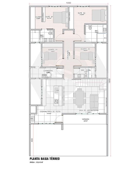 Planta Arquitetônica Residencial