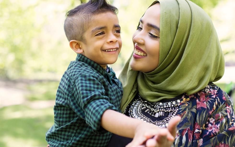 イスラム教徒の母と息子