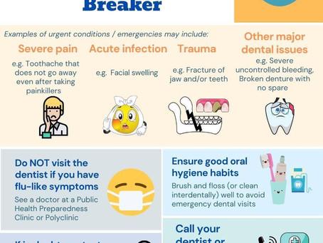 "Dental Procedures during ""Circuit Breaker"" till 1st June 2020"