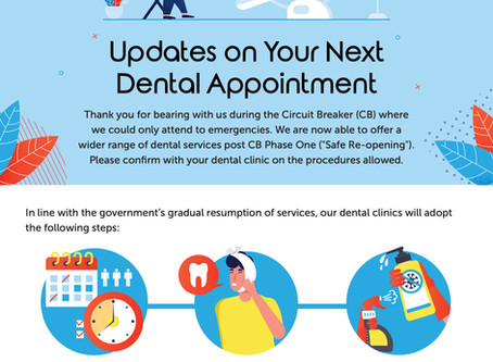 Appointment Updates for everyone's safety :)