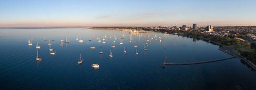 Anchored Boats Panorama