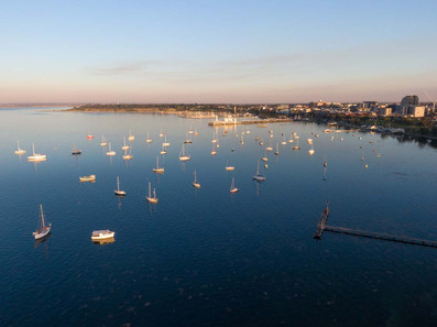 Anchored Boats - Corio Bay