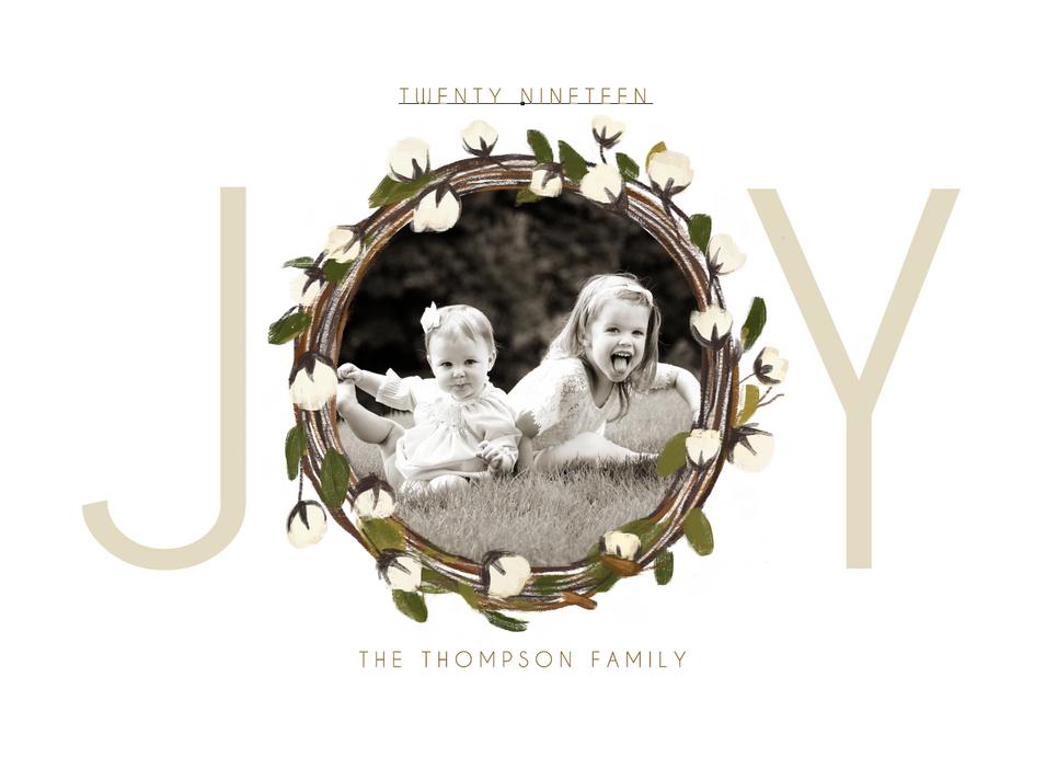 Joy Wreath Template - Side 2