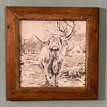 Bildnr. KD-024 Schotten-Muni mit Rahmen antik