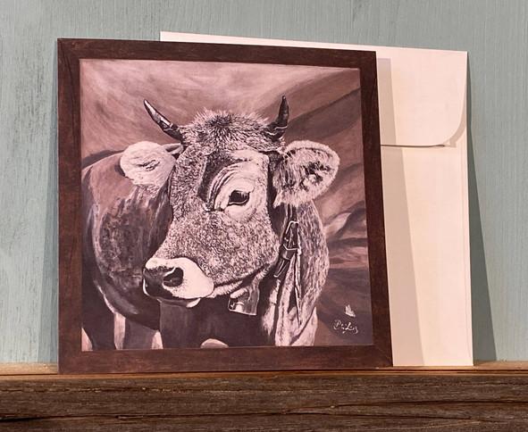 Kartennr. 053 Kuh mit Glocke