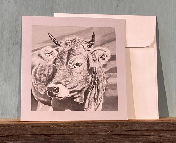 Kartennr. 054 Kuh mit Glocke