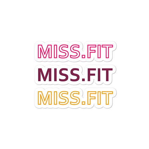 Miss.Fit Sticker