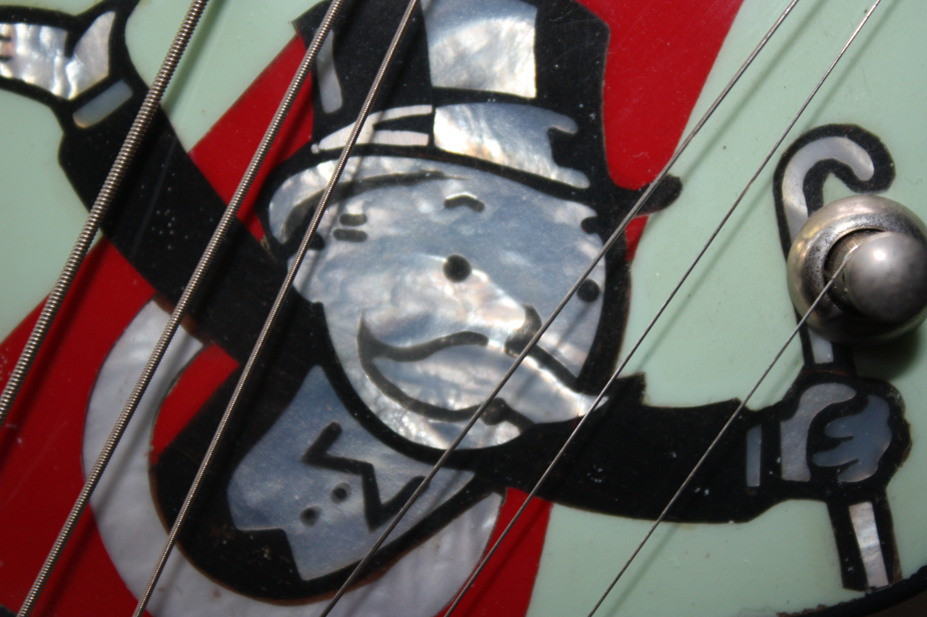 Monopoly Man Detail