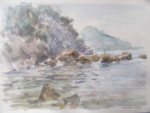 Early Morning Rocks, Meadfoot Beach, Devon