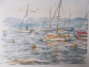 Evening Boats at Brixham Estuary